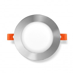 Plafonnier Downlight LED rond encastrable 12W Nickel Série Taurus