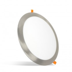 Plafonnier LED rond encastrable 18W Nickel Série Taurus
