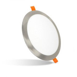 Plafonnier LED rond encastrable 24W Nickel Série Taurus