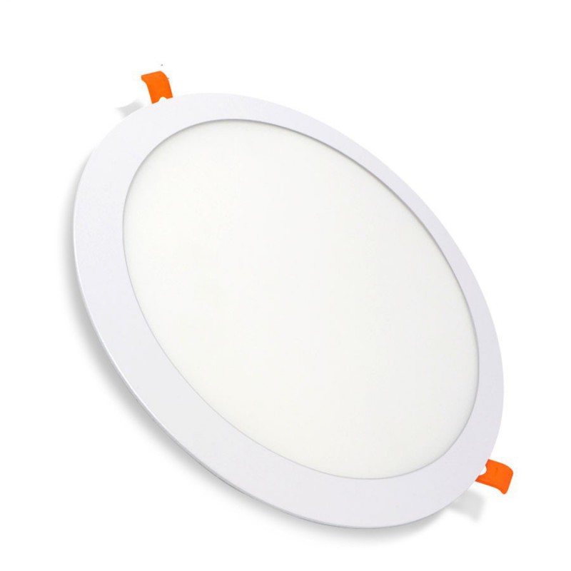 Plafonnier Downlight LED rond encastrable 24W Blanc Série Pluton