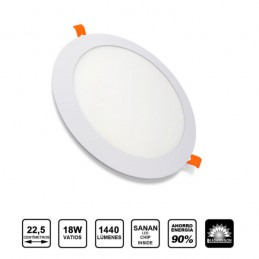 Plafonnier LED Rond Encastrable - 18W